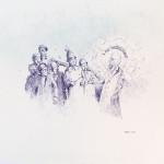 I am Thewelcome, 2013. Boligrafo sobre papel, 30 x 42 cm
